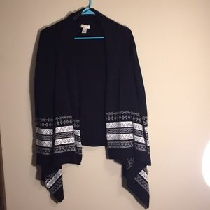 Long Sleeved Black/White Women's Sweater